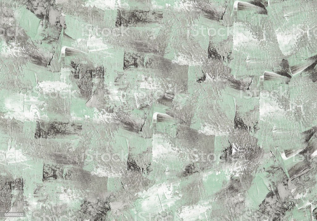 Oil paint light green background. Palette knife texture. Art concept. stock photo