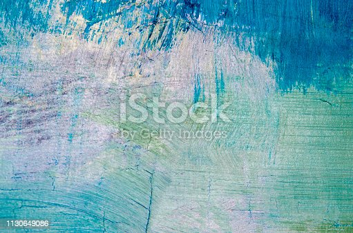 istock Oil painting abstract texture background 1130649086