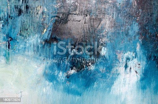 istock Oil painting abstract texture background 180972524