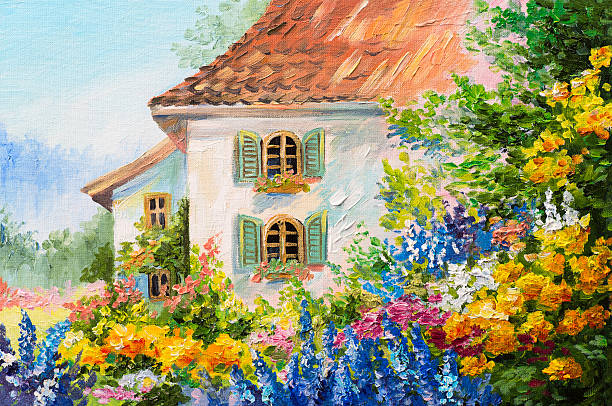 Royalty free oil painting pictures images and stock for Oil painting scenery