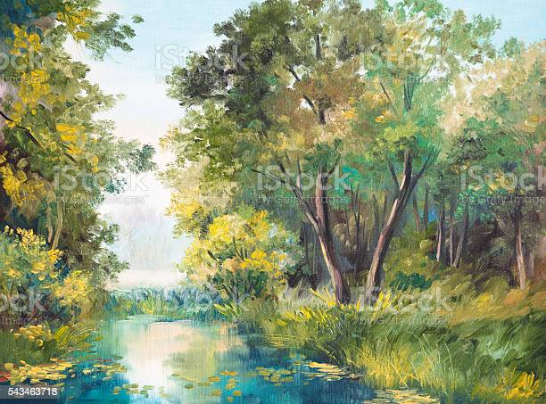 Oil painting of forest landscape pond in the forest picture id543463718?b=1&k=6&m=543463718&s=612x612&h=4n0qp1dzs3qksha2sydxkiyahomzs95fwnougkuiuvq=