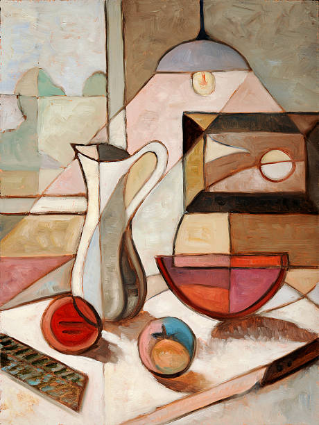 Oil Painting of Still Life With Pitcher stock photo