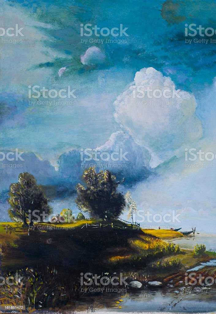 oil painting royalty-free stock photo