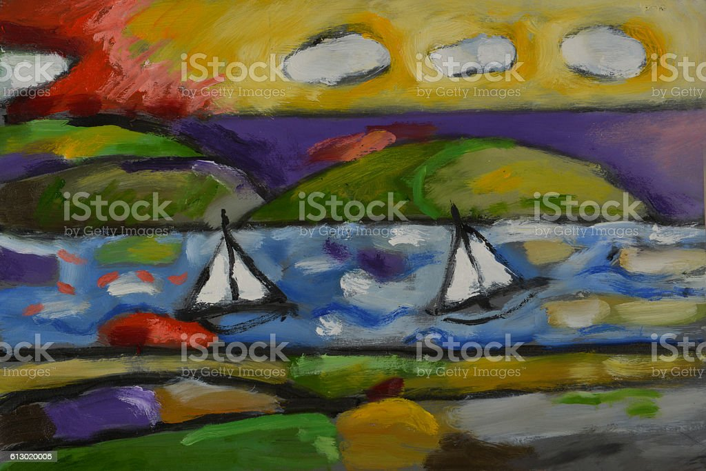 oil painting stock photo