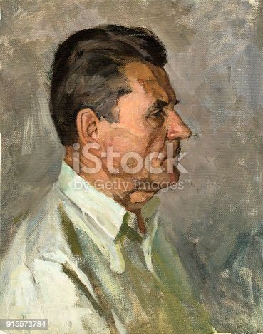istock oil painting, portrait 915573784
