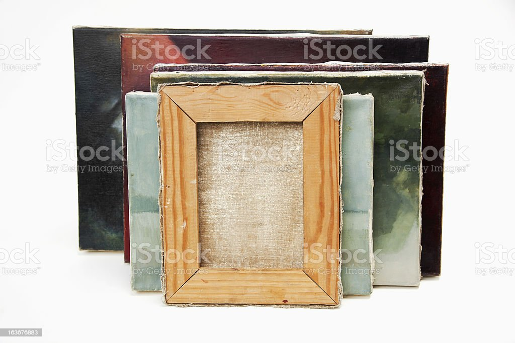 Oil paintings on canvas. royalty-free stock photo