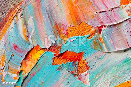 istock Oil paints macro 504223972