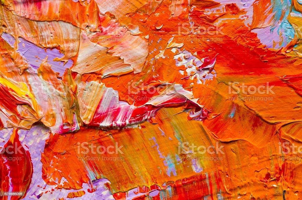 Oil paints macro