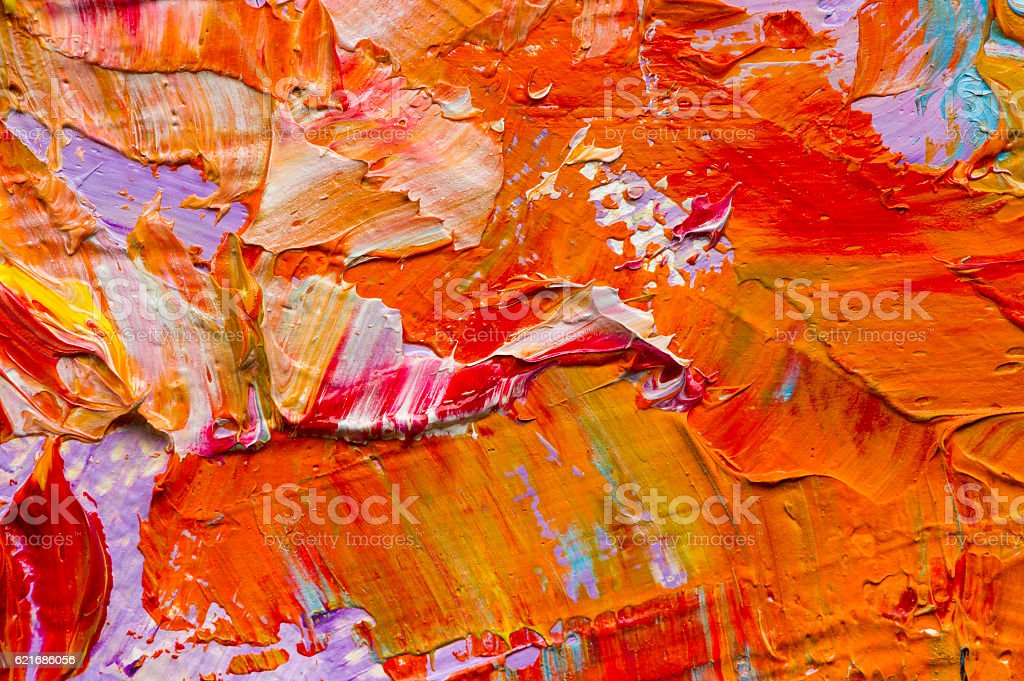 Oil paints macro stock photo