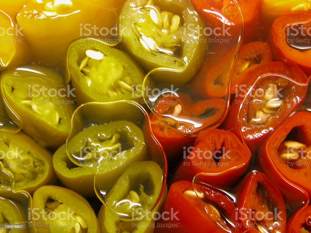 Oil Peppers royalty-free stock photo