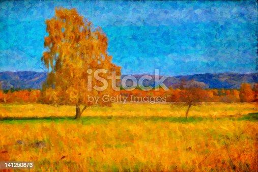 istock Oil picture a autumn landscape 141250873