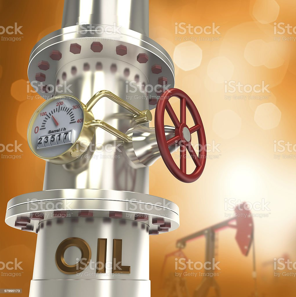 Oil pipeline background royalty-free stock photo