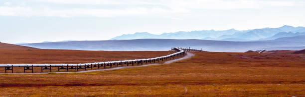 Oil pipeline panorama - foto stock
