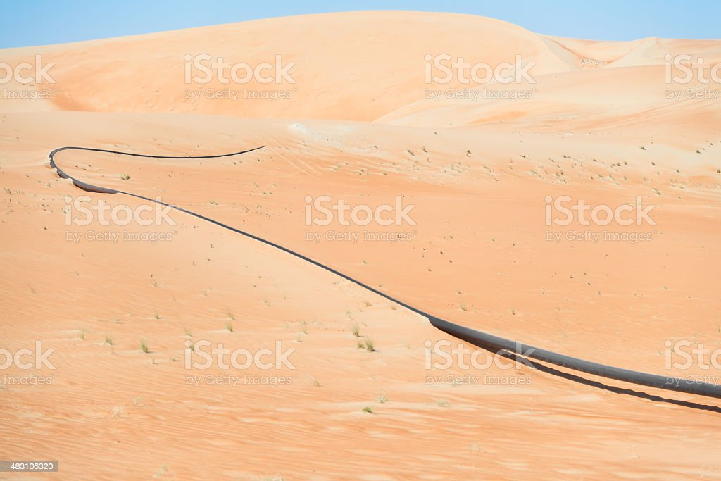 oil pipeline stock photo