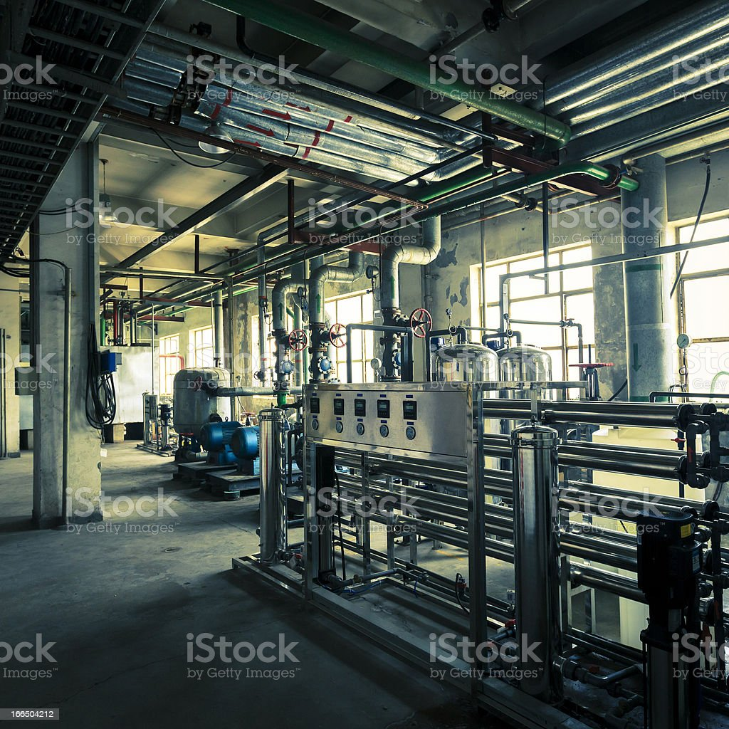 Oil pipelines in Chemical plants royalty-free stock photo
