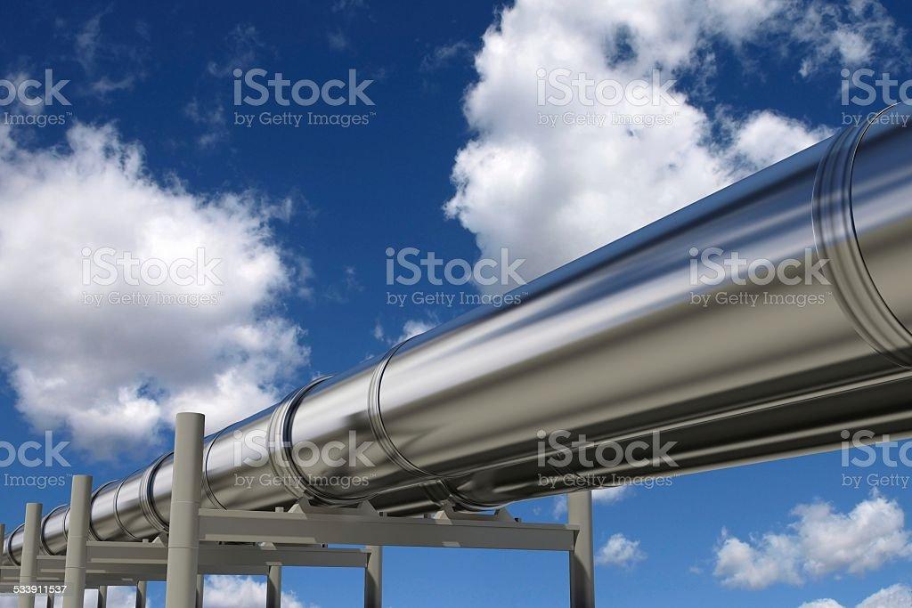 Oil pipelines stock photo