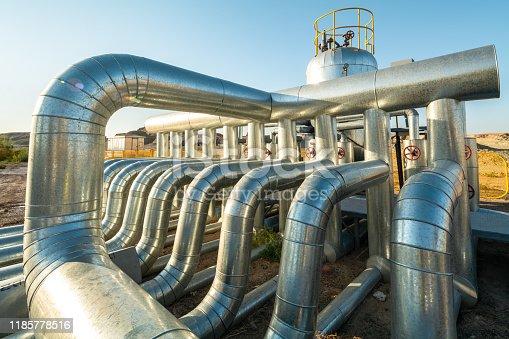 Oil plant in Xinjiang, China