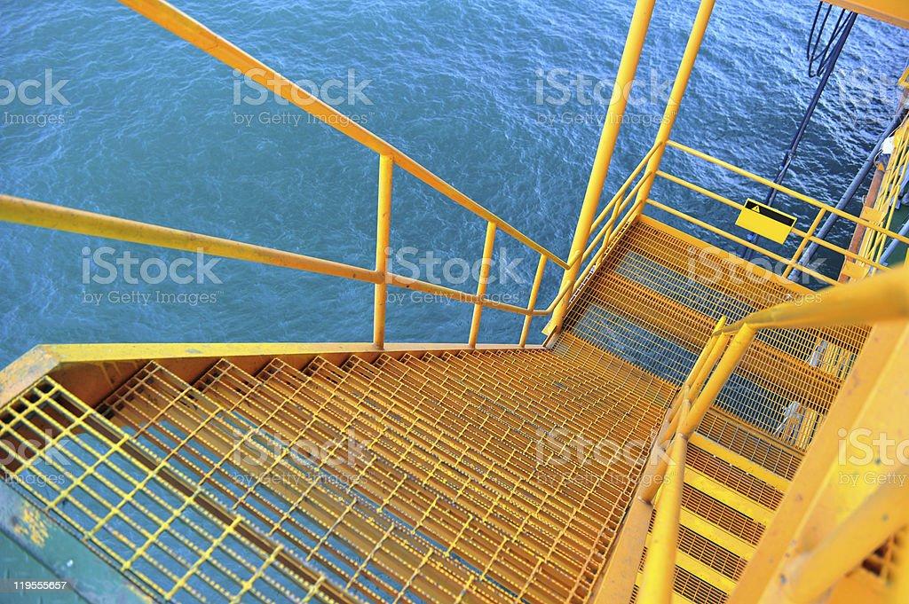 Oil Platform Ladder stock photo