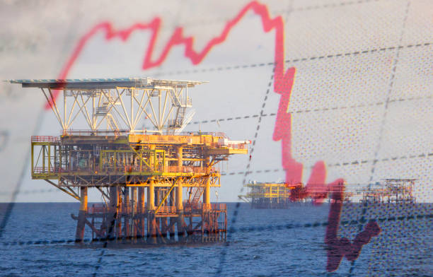 Oil platform stock photo