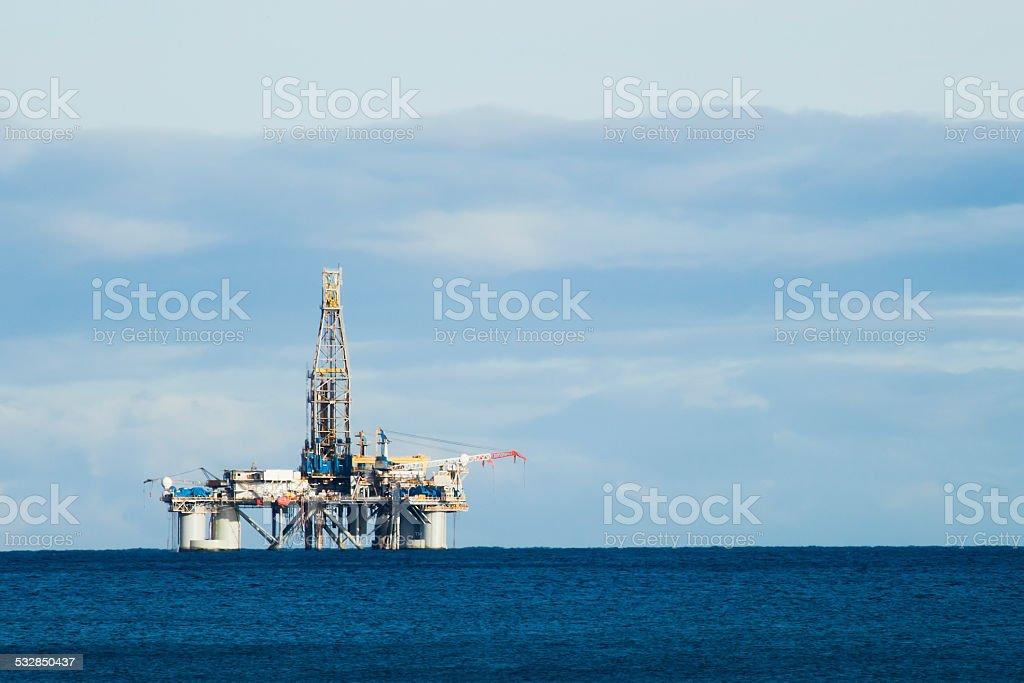 Oil platform stock photo
