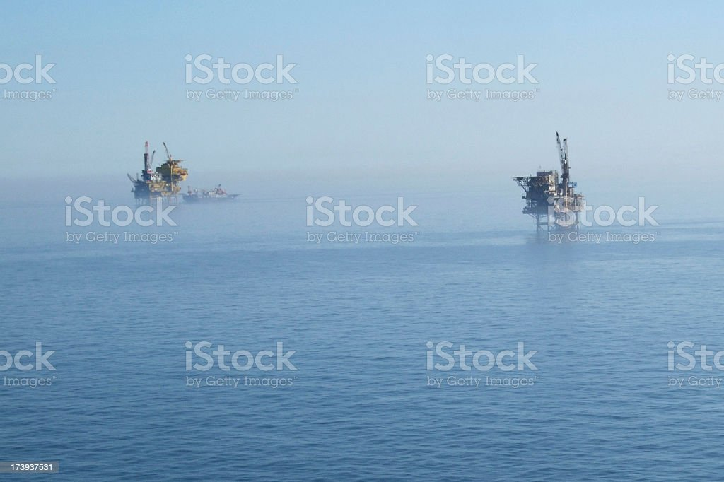oil platforms royalty-free stock photo