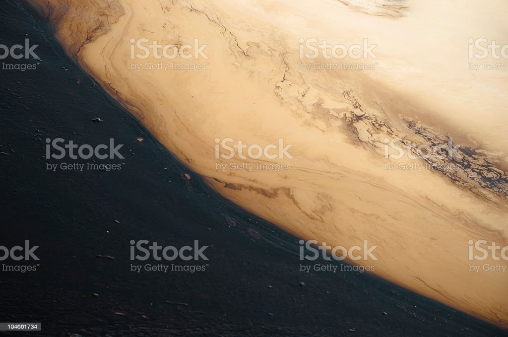 Oil pollution royalty-free stock photo