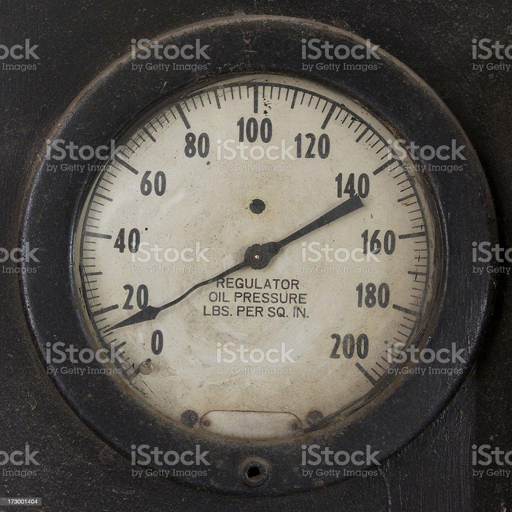 oil pressure gauge stock photo