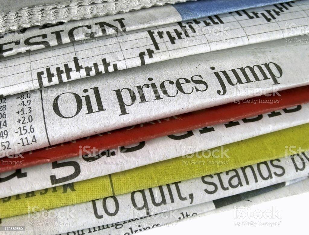 Oil Prices Jump stock photo