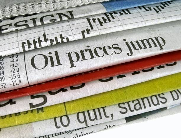 Oil Prices Jump stock photo