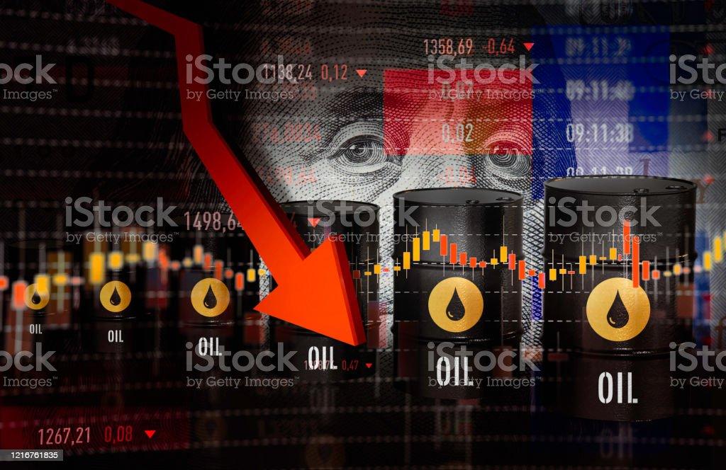 Los precios del petróleo bajan - Foto de stock de Aceite de motor libre de derechos