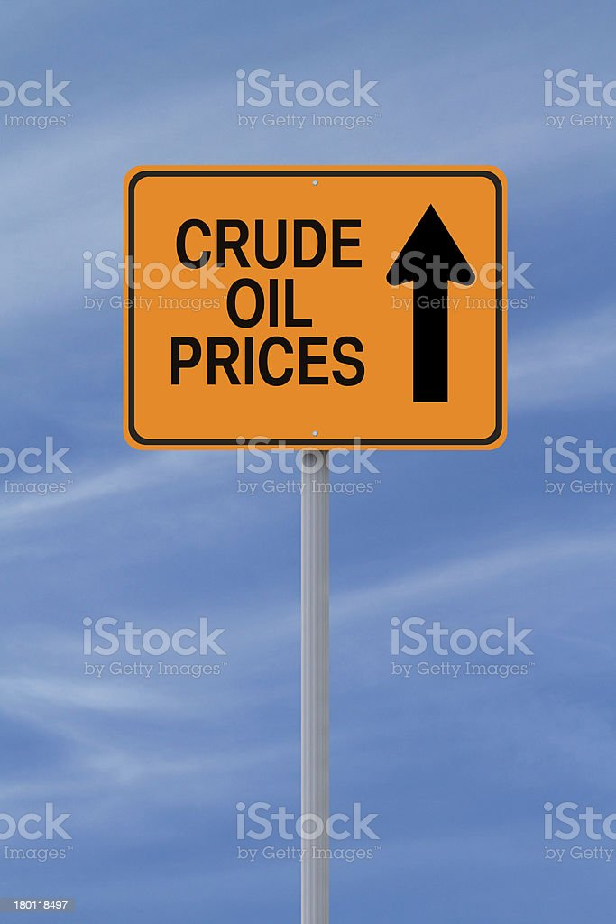 Oil Prices Up royalty-free stock photo