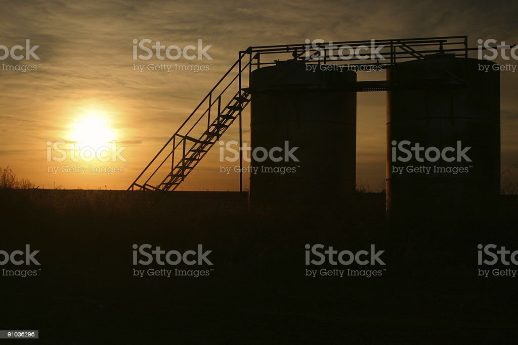 Oil Production Time royalty-free stock photo