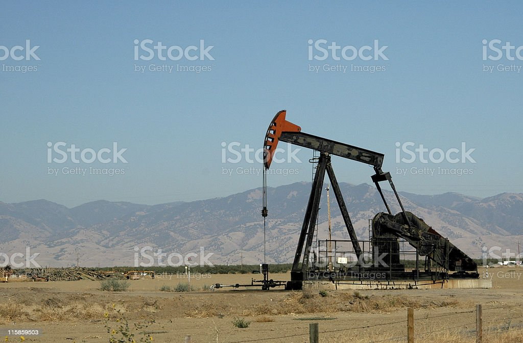 oil pump, Bakersfield, California royalty-free stock photo