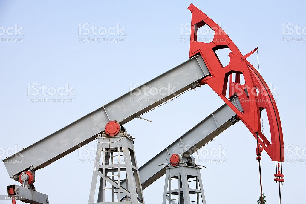 oil pump closeup royalty-free stock photo
