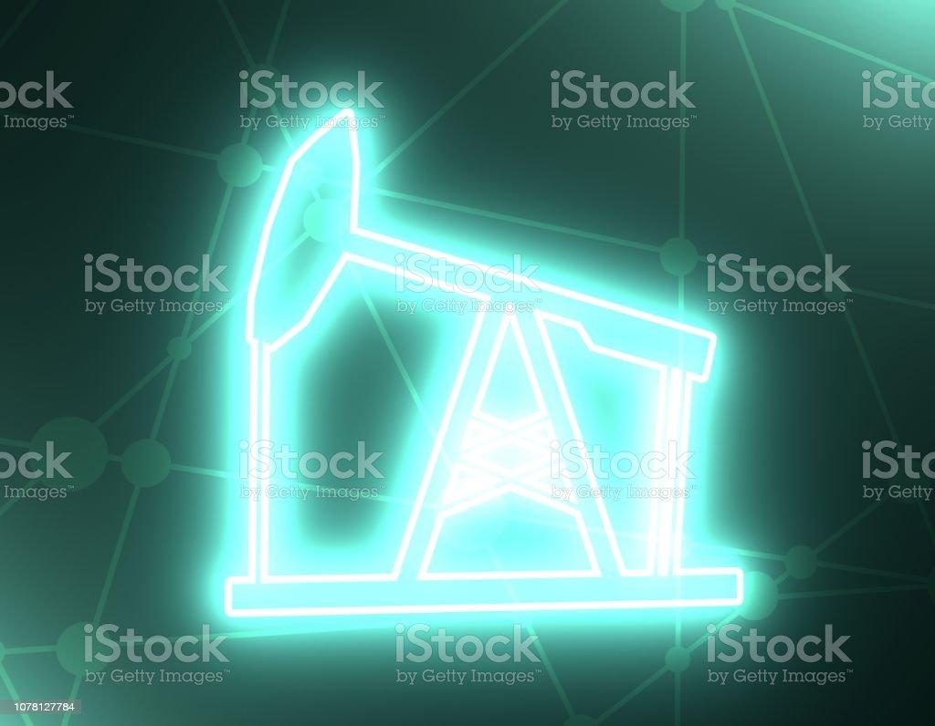 Oil pump icon stock photo