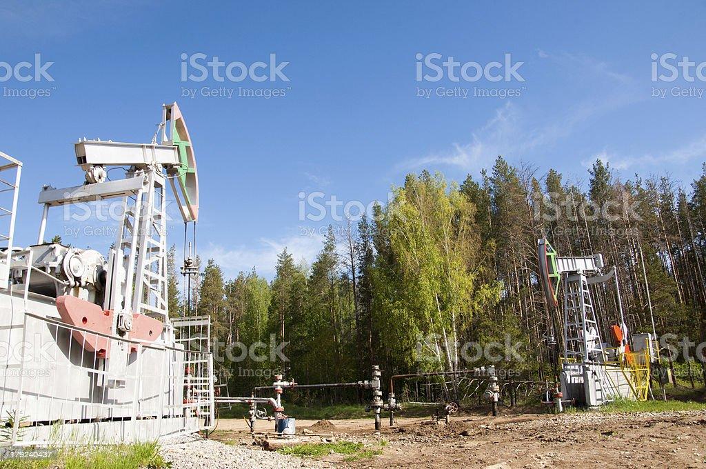 Öl Pumpe jack im Betrieb – Foto