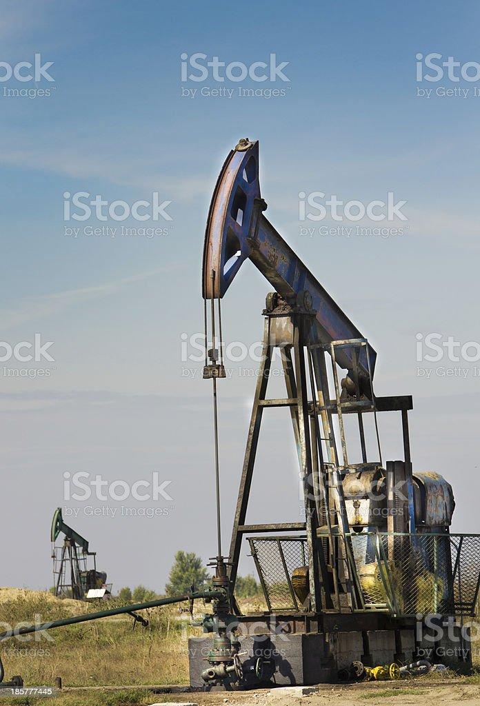 Oil pump jack royalty-free stock photo