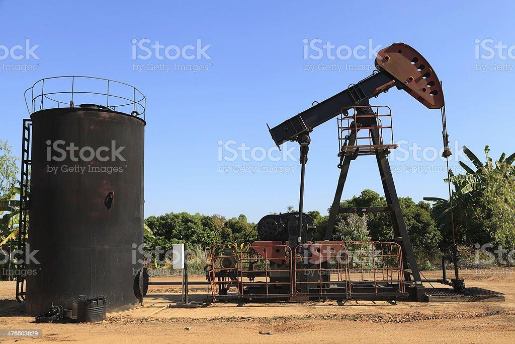 Oil Pump Jack (Sucker Rod Beam) royalty-free stock photo