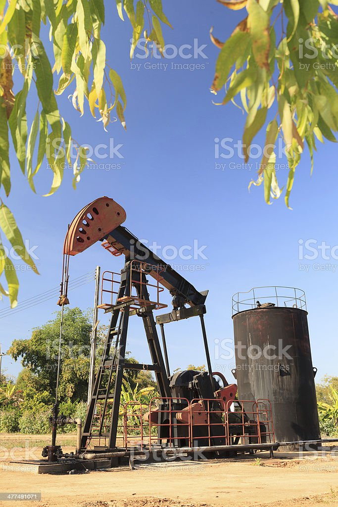 Oil Pump Jack (Sucker Rod Beam) royalty-free stock photo