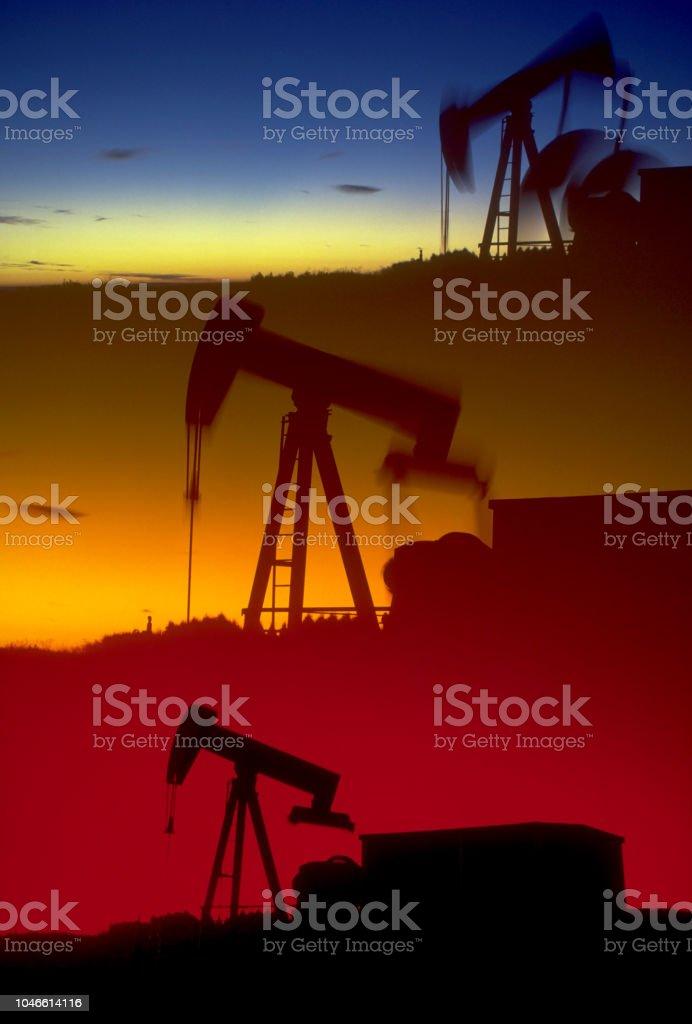 Oil Pump Jacks - fotografia de stock