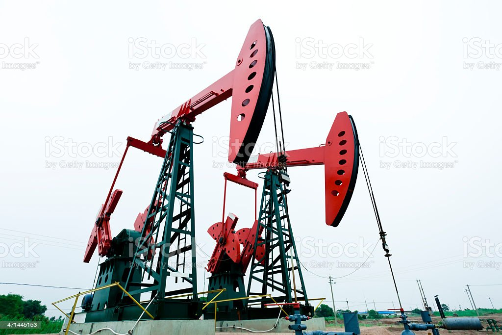 oil pump jacks royalty-free stock photo