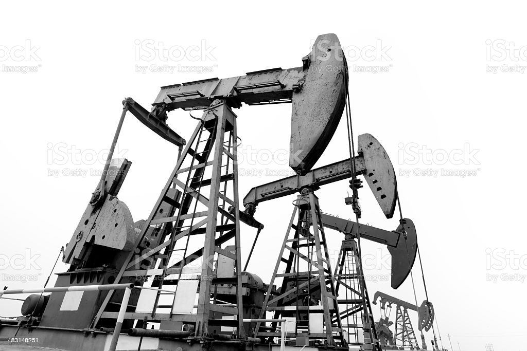 oil pump jacks royalty-free stock photo