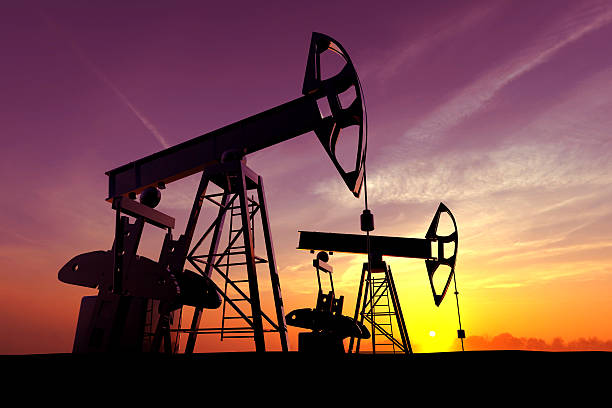 oil pump - crude oil stock photos and pictures