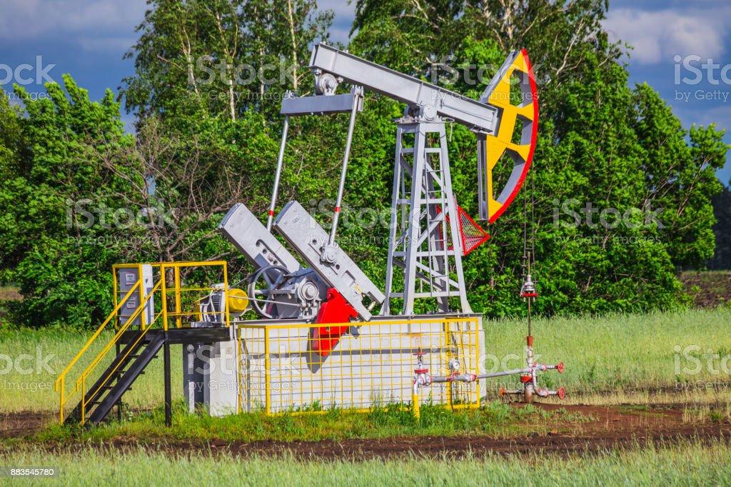 Oil Pump stock photo