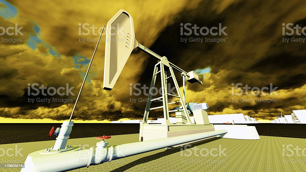 oil pump station royalty-free stock photo