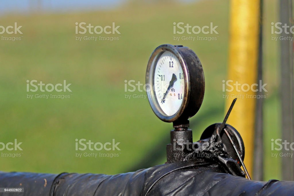 Jaszczew, Poland - april 8, 2018: Oil pump station. Tansport and distribution of oil. Technology of oil transportation system. Training manual for oil refining. Extraction of natural resources. stock photo