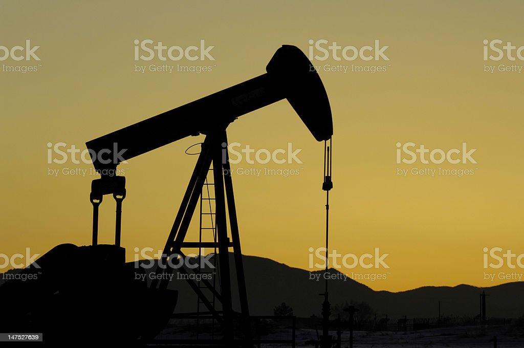 Oil Pumper stock photo