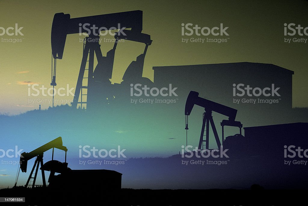 Oil Pumpers royalty-free stock photo