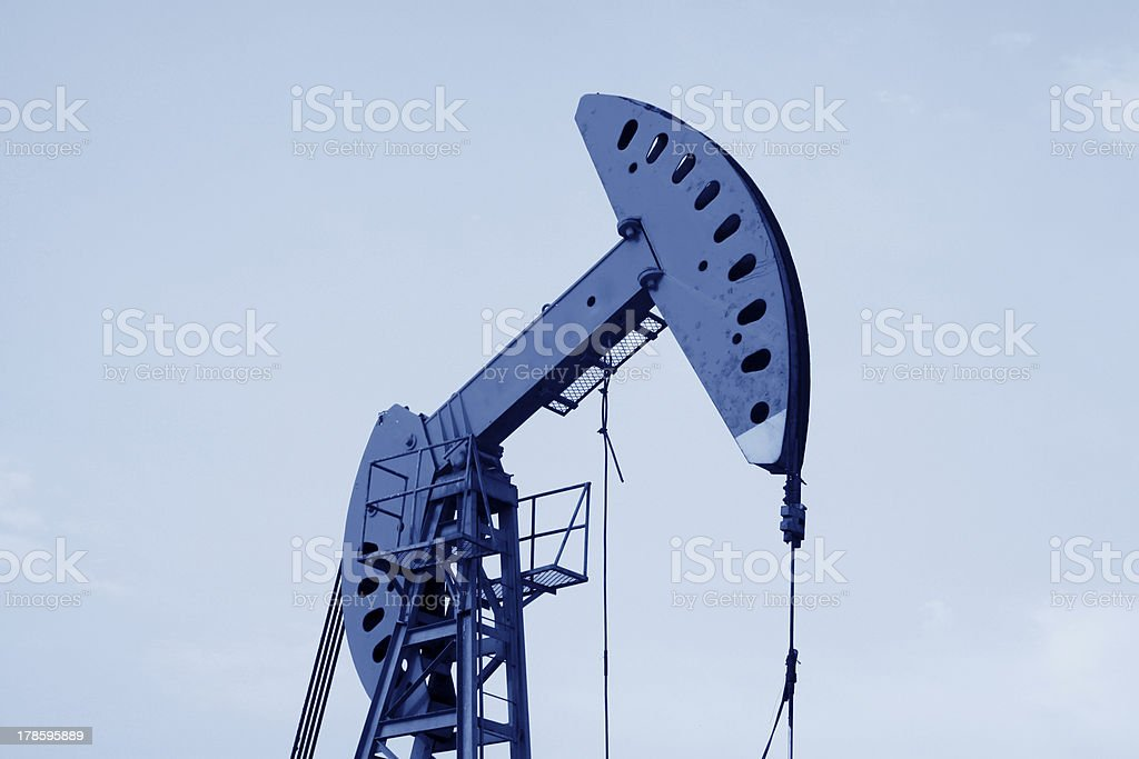 oil pumping unit in working royalty-free stock photo