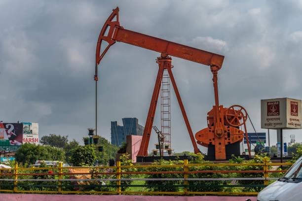 Oil pumping units ONGC at Visat Circle , Visat Gandhinagar Junction near Chandkheda Amdavad
